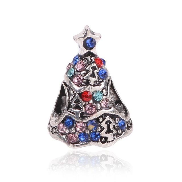 Kerstboom Pandora.Us 4 5 55 Off Ranqin Nieuwe Zilveren Kleur Enamel Kerstboom Charms Bead Fit Originele Pandora Armband Ketting Voor Vrouwen Authentieke Sieraden In