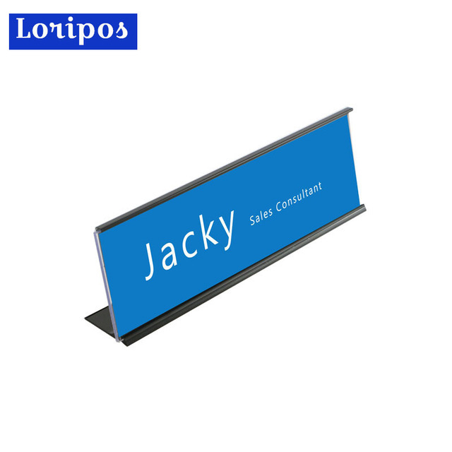 10 inches metal office name plate card holder aluminum table desk