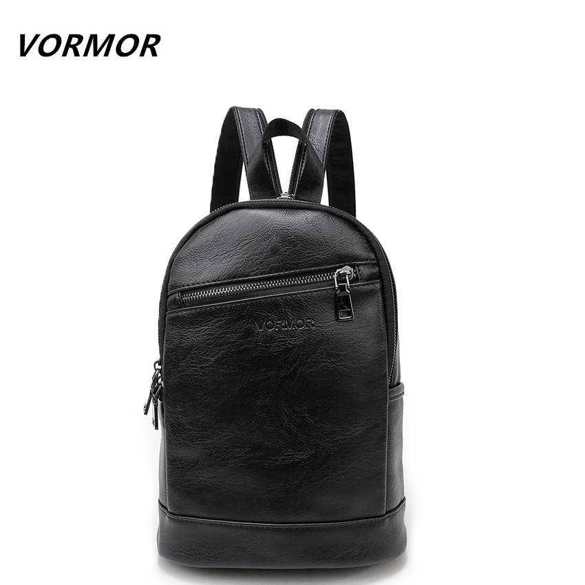 VORMOR Multifunction Leather Small Backpack Bag Waterproof Fashion Chest Pack Bags For Men Women motorcycle waterproof black tank bags multifunction hard shell bag motorcycle riding luggage backpack shoulder seat tail pack