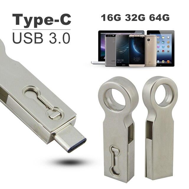 OTG Тип C USB 3.0 Флэш-Накопитель 32 Г 16 ГБ 64 ГБ Pen Drive Смартфон Памяти Mini USB Stick Типа С 3.1 Двойной Двойной Разъем PC Pendrive