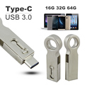 OTG Type C USB 3.0 Flash Drive 32G 16GB 64GB Pen Drive Smart Phone Memory Mini USB Stick Type-C 3.1 Dual Double Plug PC Pendrive