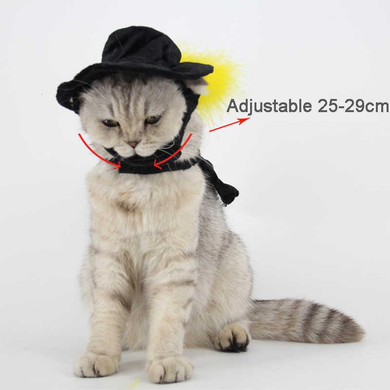 แมวสีดำหมวกเสื้อคลุมสำหรับฮาโลวีน Evening เสื้อคลุมหมวก Cool ชุดสำหรับ Stage Performance เหมาะสำหรับแมวสุนัข totoro