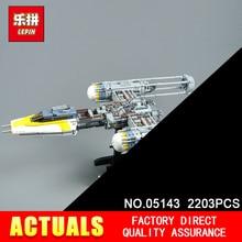 Lepin 05143 2203Pcs Star Series Wars The 75181 New Y wing Starfighter Set font b Model