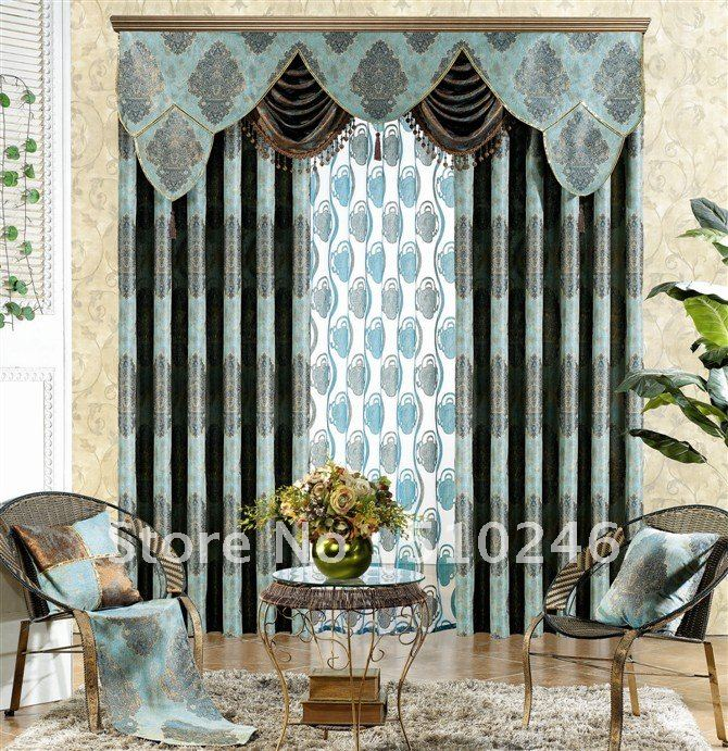 Classic Design Customized Jacquard Ready Made Window Drapery Eye;et/pleated  Blackout Curtain In Curtains From Home U0026 Garden On Aliexpress.com | Alibaba  ...