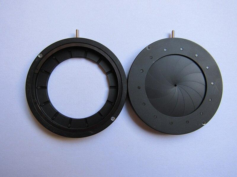 2pcs 1.5-36mm Iris diaphragm Iris Aperture Monitor Parts camera parts Condenser microscope 14 blades  цены