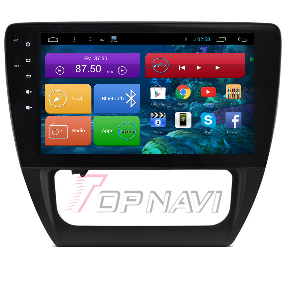 "Top Free Shipping 10.2"" Quad Core Android 4.4 Car GPS for VW Sagitar 2015 With Wifi Bluetooth Stereo Radio Audio Map 16GB Flash"