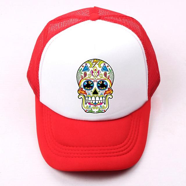 Verano niños niño niña Gorras de béisbol retro punk cráneo peligro ...