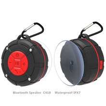 TOPROAD Waterproof Outdoor Bluetooth Speaker with Suction Cup