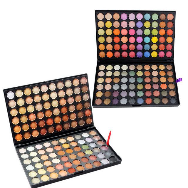 120 Fashion Color Sombra de Ojos Paleta de Cosméticos de Maquillaje de Ojos Herramienta de Maquillaje de Sombra de Ojos Paleta Sombra de Ojos Set para las mujeres