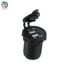 Excessive High quality Waterproof DC 12-32V Common Automobile Charger Car Twin USB Charger 2 Port Energy Socket 5V 2.1A/1A