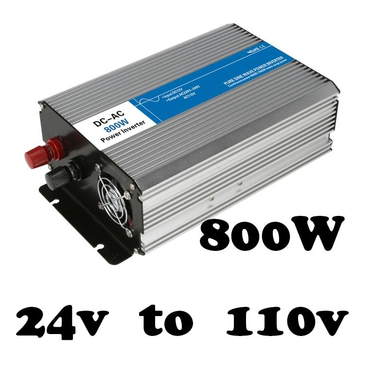 цена на off grid 24v to 110v output 800W pure sine wave go power inverter voltage converter,solar inverter LED Display AG800-24-110