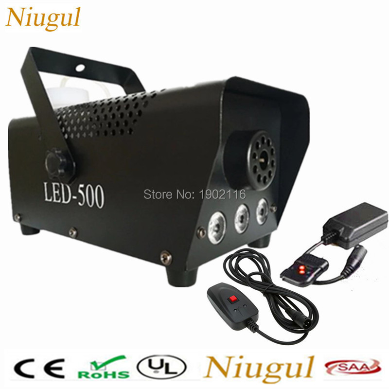 Niugul Remote or Wire 500W LED fog machine RGB color LED smoke machine for Christmas home party fogger DJ equipments Haze mchine salter air fryer home high capacity multifunction no smoke chicken wings fries machine intelligent electric fryer