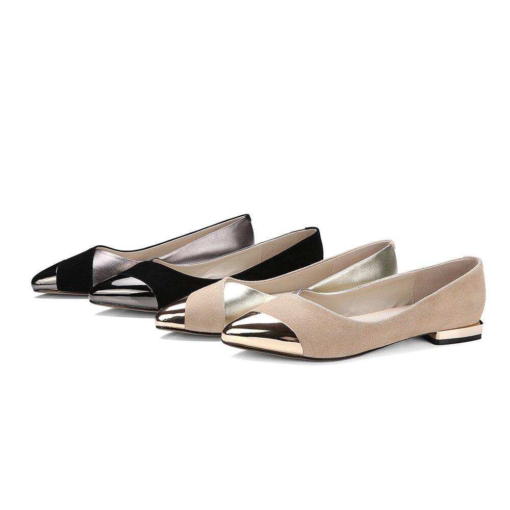 Cuir Automne 2018 Suédé Abricot Printemps Peu Appartements Pointu Noir En Noir Profonde Femmes Masgulahe Casual Bout Chaussures apricot Plat Femme 8O0yvmNnPw