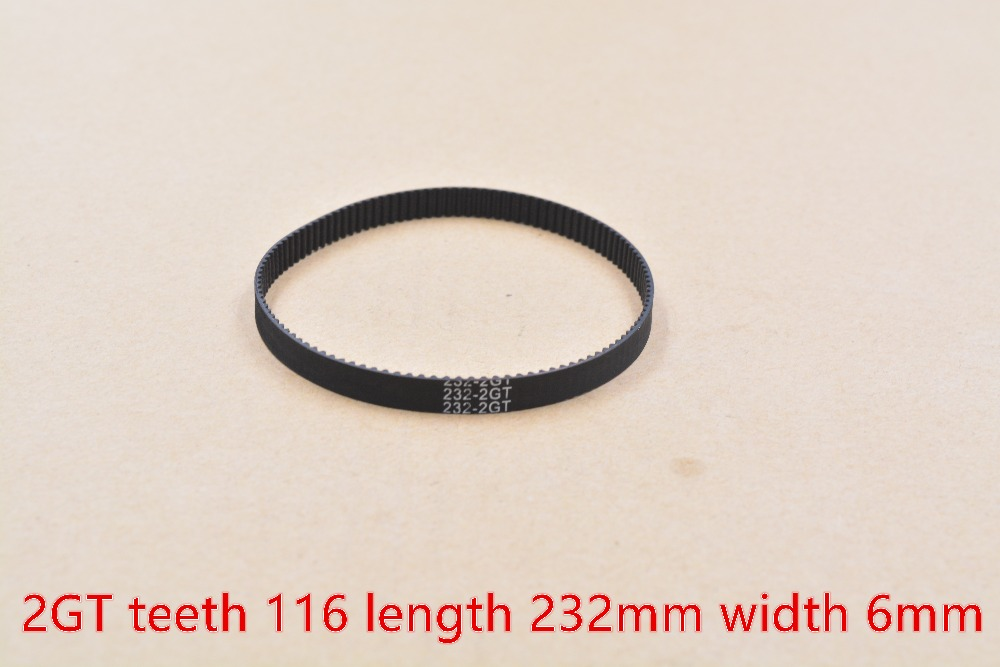3d printer belt GT2 closed loop rubber 2GT timing belt teeth 116 length 232mm width 6mm 232-2GT-6 1pcs powge 8pcs 20 teeth gt2 timing pulley bore 5mm 6mm 6 35mm 8mm 5meters width 6mm gt2 synchronous 2gt belt 2gt 20teeth 20t