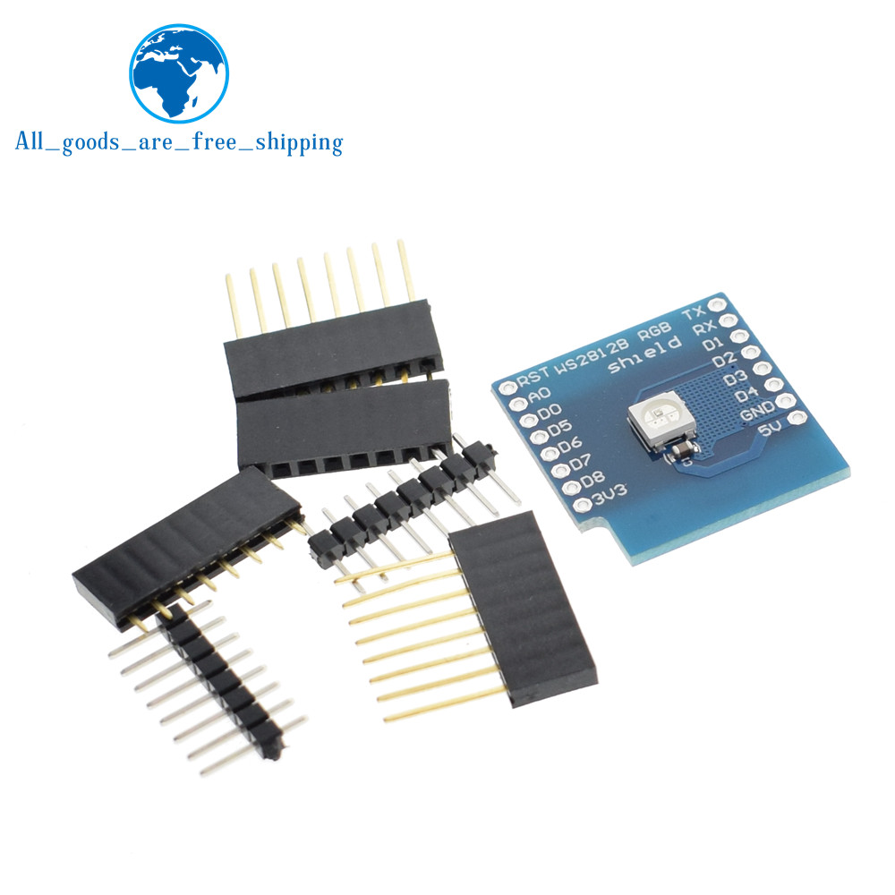 Tzt 1pcs Ws2812b Rgb Shield For Wemos D1 Mini Quell Summer Thirst Active Components