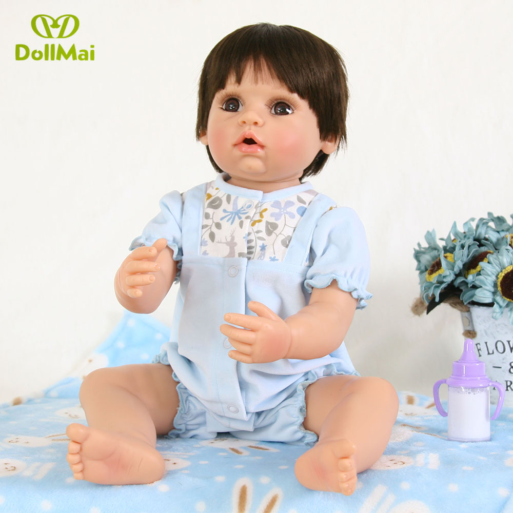 DollMai 56cm Full silicone reborn baby dolls real baby alive dolls toys for children gift can bathe bebe bonecasDollMai 56cm Full silicone reborn baby dolls real baby alive dolls toys for children gift can bathe bebe bonecas