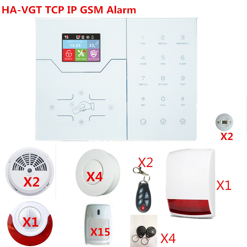 New 433Mhz 868Mhz French Menu TCP IP GSM GPRS Alarm System TCP IP Internet Smart Home Security Alarm System With App Control