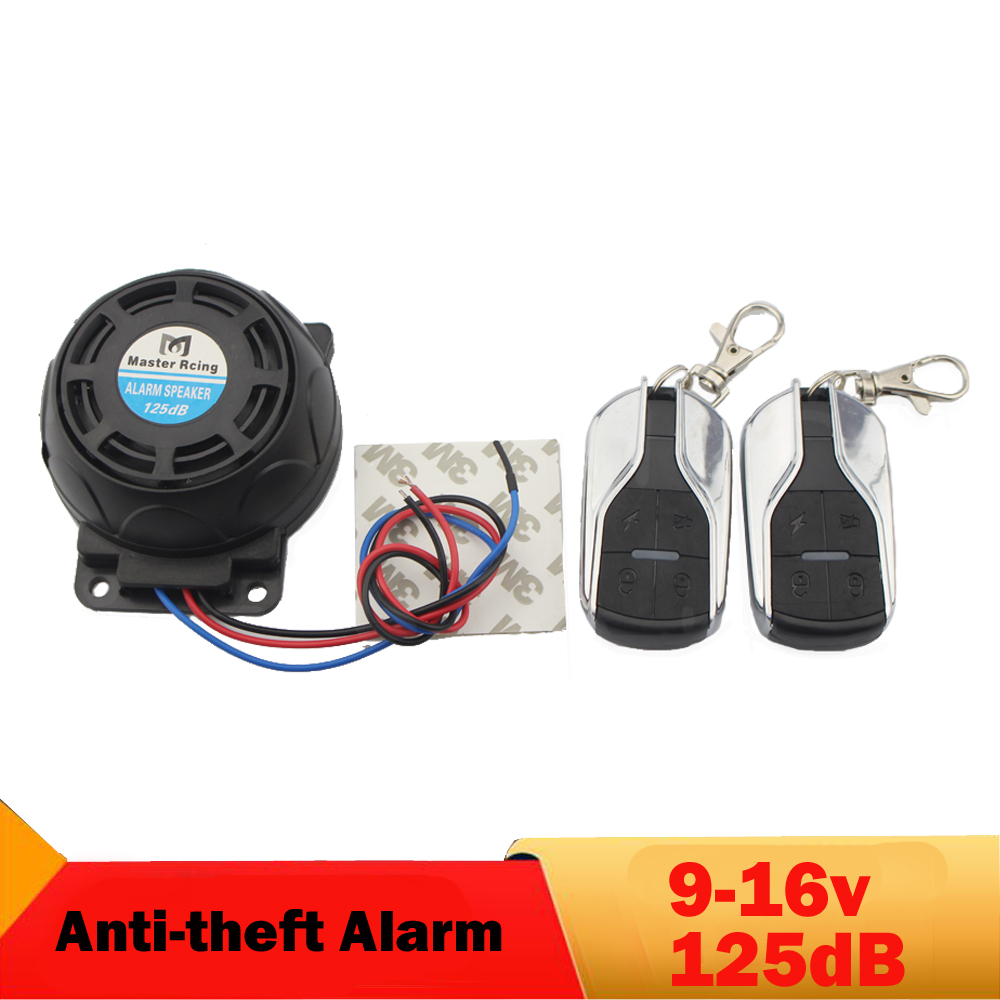 125dB Motorcycle Alarm Anti theft Security System Remote Control moto Alarm Speaker for Honda Suzuki Yamaha