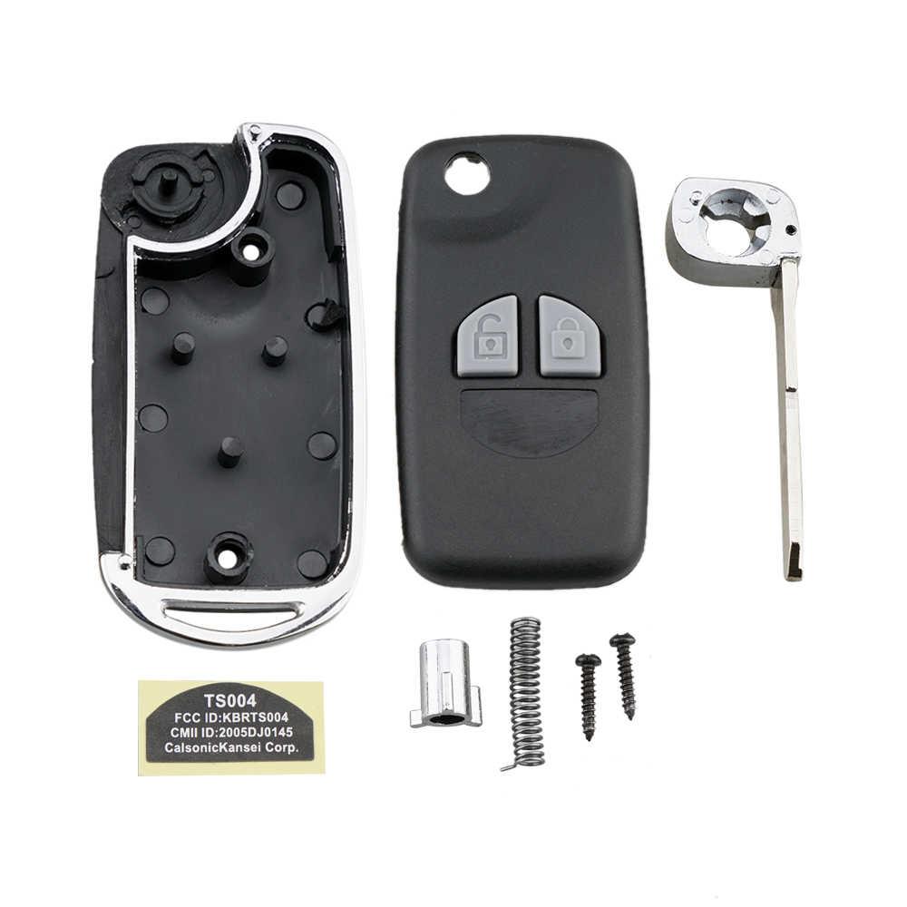BHKEY 2 düğmeler uzaktan araba anahtarı durum Fob Suzuki SX4 hızlı Grand Vitara anahtar Fob kapak + tuş takımı