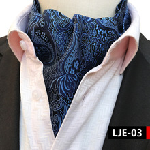 100% Silk Big Paisley Ascot Tie, Black with Wine Red Flower Classic Mens Necktie Shirt Accessories