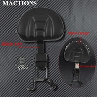 Motorcycle Backrest Adjustable Plug In Front Driver Rider Backrest Seat Kit For Indian Chief Vintage Chief Classic 2014 2018