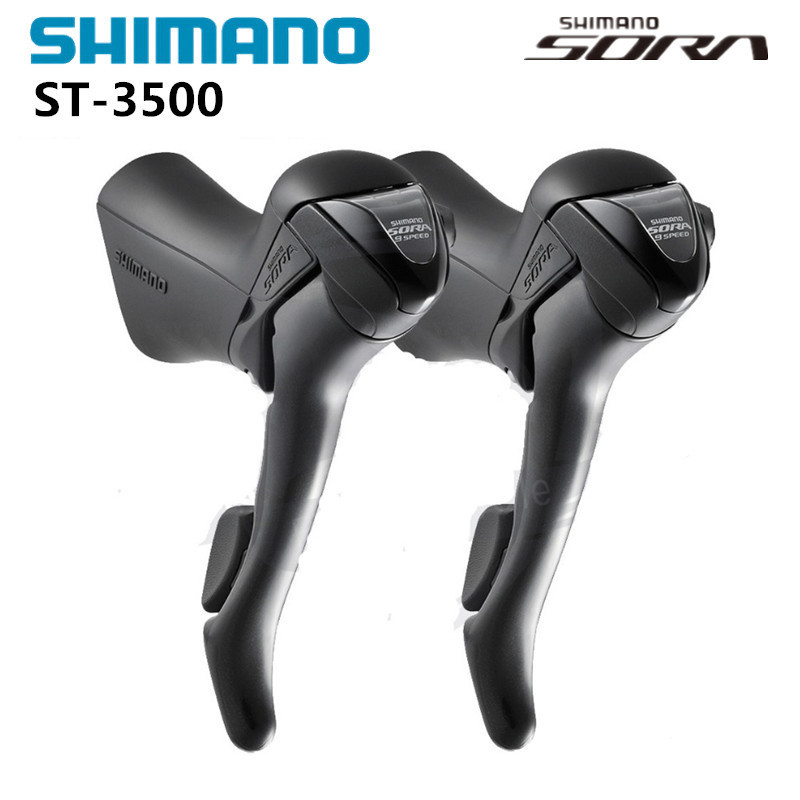 Shimano Sora ST-3500 2x9 Speed L&R STI road bike bicycleShifters Brake Levers shimano sora fc 3503 3x9 speed road bike bicyclecrankset 50 39 30t with bb