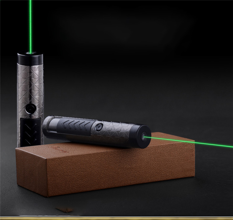 Tungsten Turbo Lighter USB Military Green Laser Astronmy Puntero Cigarette Lighter Green Laser Pointer Pen Electronic Lighter