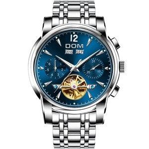 Image 5 - Dom Heren Mechanische Horloges Luxe Mode Merk Waterbestendig Automatische Polshorloge Mannen Business Tourbillon Horloge M 75D 2MW