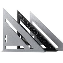 7 สามเหลี่ยมมุมอลูมิเนียมโลหะผสมความเร็วสแควร์วัดไม้บรรทัด Miter สำหรับกรอบอาคาร Carpenter วัดเครื่องมือ