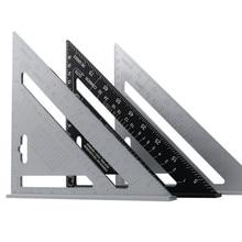 Goniometro ad angolo triangolare da 7 ''in lega di alluminio velocità quadrata righello di misurazione mitra per incorniciatura strumenti di misurazione per carpentiere