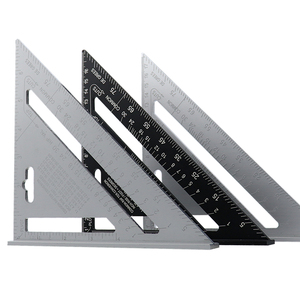 7'' Triangle Angle Protractor Aluminum Alloy Speed Square Measuring Ruler Miter For Framing Building Carpenter Measuring Tools(China)