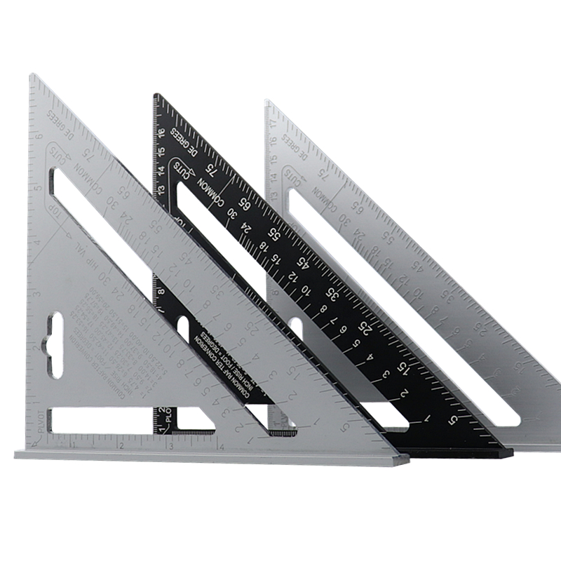 7 ''dreieck Winkelmesser Aluminium Legierung Geschwindigkeit Platz Mess Lineal Gehrung Für Framing Gebäude Carpenter Mess Werkzeuge
