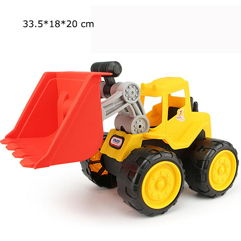 Big size Beach toy cars Engineering car vehicles truck excavator bulldozer model toys Classic Play house Toys kids Boy toys 1