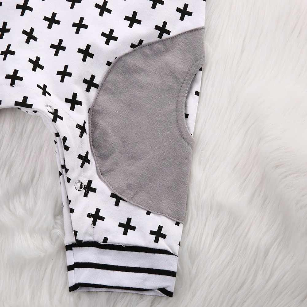 62d56effb5925 New 2019 Summer Baby Boy Girl Hooded Romper Baby Clothes Newborns Geometric  Striped Toddler Jumpsuit Infant Clothing