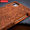 100% Natural Wood Carvings Case For iPhone X 6 6S 7 8 Plus 5 5S  Protective Phone Covers 2