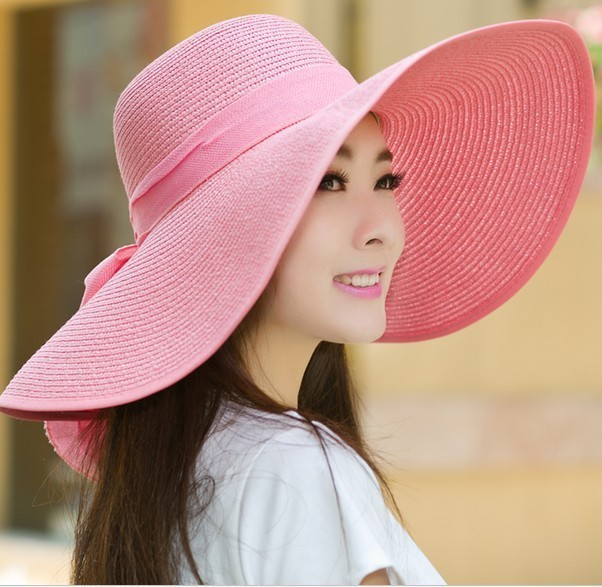 224887d5926 2017 Fashion womens Straw Hat best Summer Hats Lady Foldable Beach Cap  Sunscreen camping sombreros Caps Free Shipping