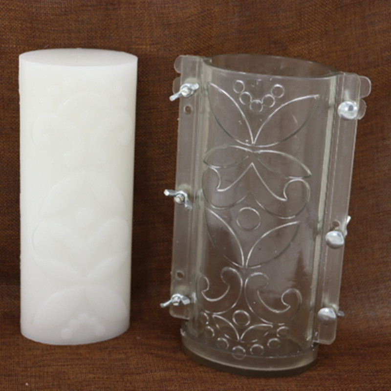 Molde de vela de flor Ovalada para hacer velas, molde de vela resistente a altas temperaturas para DIY