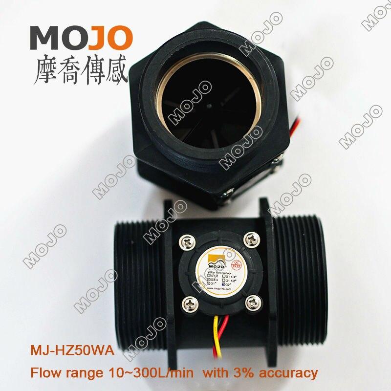 2019 livraison gratuite MJ-HZ50WA 2 ''pouces capteur de débit Hall en plastique à l'extérieur des marches interrupteur de débit d'eau sensor10-300L/min
