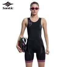 Santic Vélo Jersey Femmes Rembourré Respirant Triathlon Conjoint VTT Route Vélo Vélo Pantalon Collants Clothing L5C03008H S/M/L