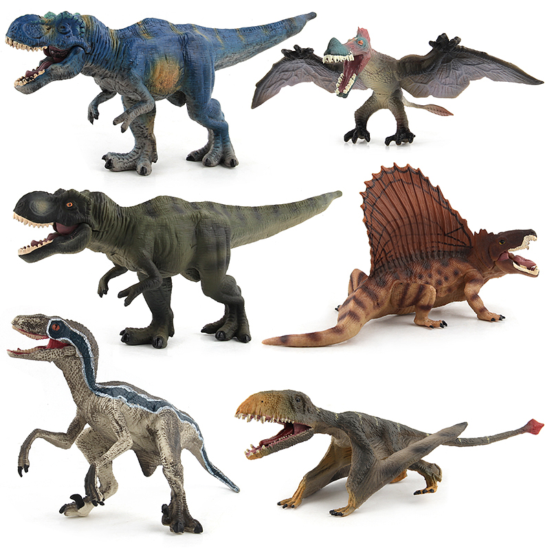 New Jurassic Dinosaur Toy Action Figure Plastic Dinosaur Model Animal Learning Educational Simulation Model Toys For Children #E цена