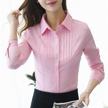 Cotton Ladies Tops Shirts Women Shirts Pink Blusa Feminina Plus Size XXXL/5XL