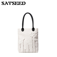 Sweet Flower Decoration Tote Bag Women S New Fashion Fall And Winter Messenger Bag Casual Shoulder