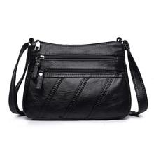 цены Casual Women's Washed Leather Handbags All-match Shoulder CrossBody Bags Ladies Messenger Bag Fashion Women Bags