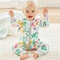 Mamelucos del bebé del Otoño Ropa de Bebé Recién Nacido Ropa de Algodón Muchachas Del Niño Del Bebé Roupa Infantil Buzos Primavera Ropa de Bebé Niño Establece