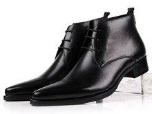 Tamanho grande EUR46 marrom/preto pontas do dedo do pé sapatas de vestido dos homens sapatos de casamento ankle boots de couro genuíno dos homens sapatos de negócios