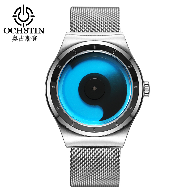 New Fashion top luxury brand OCHSTIN watches men quartz-watch stainless steel mesh strap Military Watch clock relogio masculino new fashion brand round dial black couple watch men luxury stainless steel casual quartz watches relogio masculino clock hot