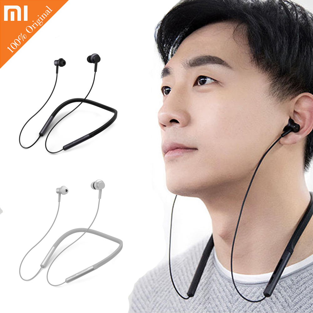 Original Xiaomi Mi Bluetooth Neckband Earphone Sports Wireless Apt-x Hybrid Dual Cell With Mic Earbuds for Android IOS original xiaomi earphone hybrid mi headset brand earbuds with microphone earpods airpods