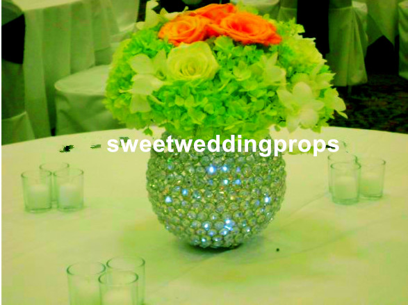 Us 180 0 No Flowers Including Metal Elegant Crystal Bead Ball Gold Silver Wedding Centerpieces For Wedding In Glow Party Supplies From Home