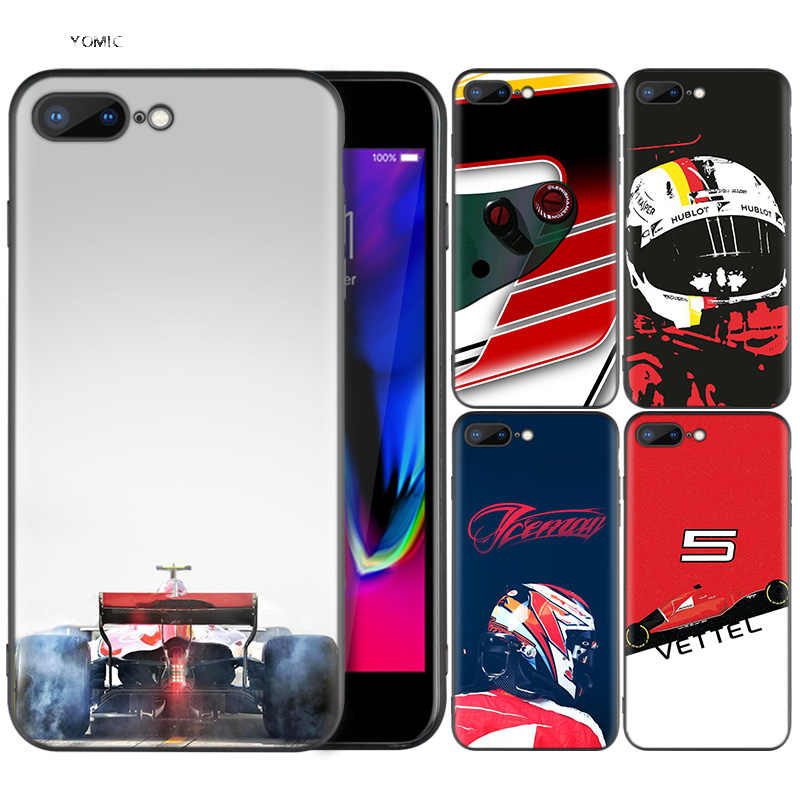 Silicone Case Shell Coque for iPhone 7 8 6 6S Plus X XS MAX XR 5C 5 5S SE 7Plus 8Plus 7+ 8+ Sebastian Vettel
