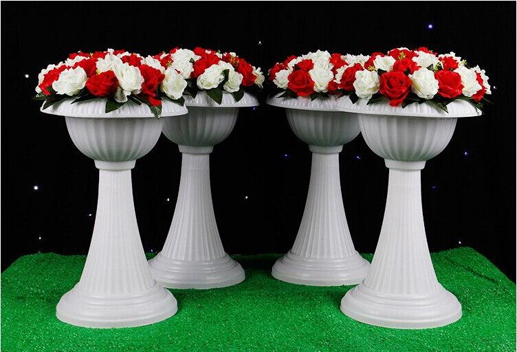 Big Plant Pots For Sale Part - 44: Big Size 56cm Tall Wedding Plastic Flower POTS Hot Sale Trumpet Shaped  Flower Vases With Flower